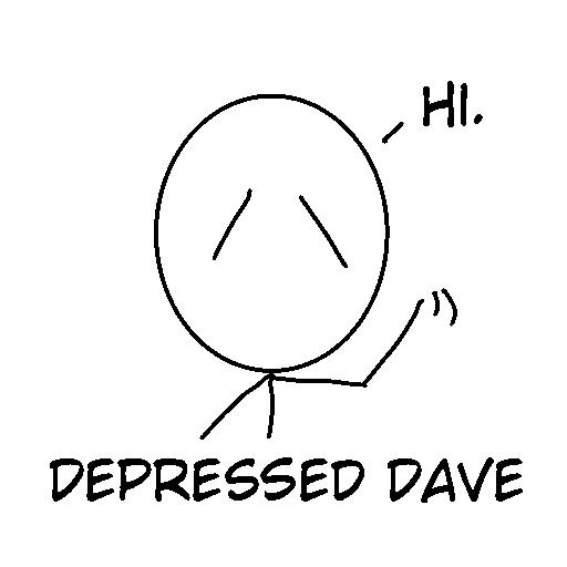 Depressed Dave logo